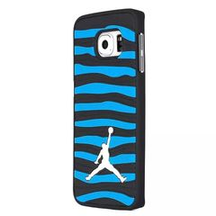 3D Air Jordan Strips Phone Cases for Samsung Galaxy S7 Edge BLACK/BLUE