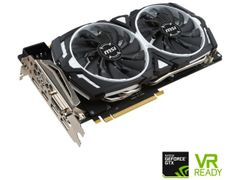 MSI GeForce GTX 1080 DirectX 12 GTX 1080 ARMOR 8G OC 8GB 256-Bit GDDR5X PCI Express 3.0 x16 HDCP Ready SLI Support ATX Video Card