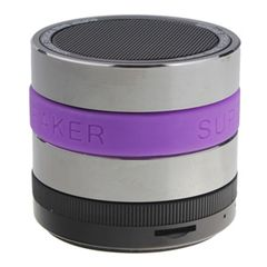 SuperBase Mini Bluetooth Speaker with MP3 Player & FM Radio - Purple