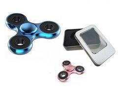 Metal Hand Tri Spinner Fidget Focus Toy Stocking Kids/Adult Spin Gift