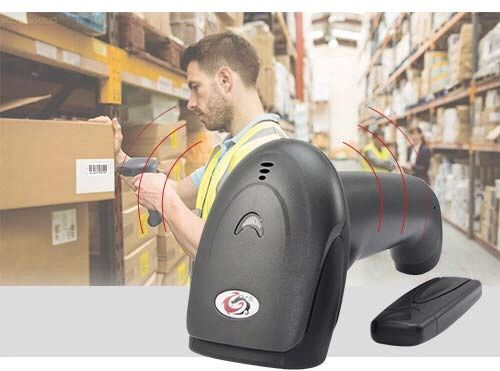 SUNLUX Barcode Scanner, XL-9309 1D Wireless Barcode Scanner