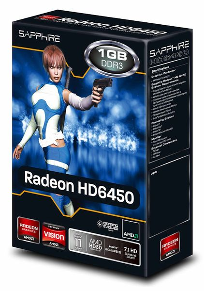 Sapphire Radeon Hd 6450 1 GB DDR3 Hdmi/Dvi-D/Vga PCi-Express Graphics Card