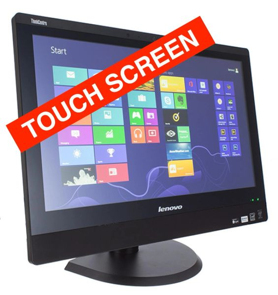 "Lenovo ThinkCentre M93Z TOUCH All-In-One, WEBCAM / WIFI 23"" FHD, Intel i5-4570S, 8GB RAM, 128GB SSD HDD, REFURBISHED"