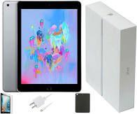 Apple iPad 6th Gen. 32GB, Wi-Fi + Cellular (Sprint), 9.7in - Silver Model A1954 (MR6P2CL/A)