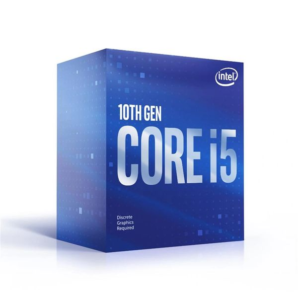 Intel Core i5-10400F 6-Core 12-Thread Desktop Processor - Socket LGA 1200 (400 Series) , 2.9 GHz Base 4.3 GHz Turbo - 65W 10th Gen Boxed Discrete GPU Required (BX8070110400F)
