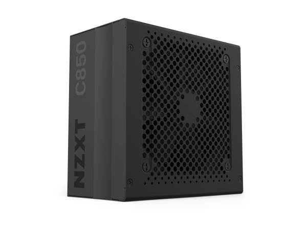 NZXT C850 NP-C850M 850 Watt PSU 80+ Gold Certified Hybrid Silent Fan Control Fluid Dynamic Bearings Modular Design Sleeved Cables ATX Gaming Power Supply