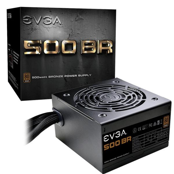 EVGA 500 BR, 80+ Bronze 500W, 3 Year Warranty, Power Supply (100-BR-0500-K1)