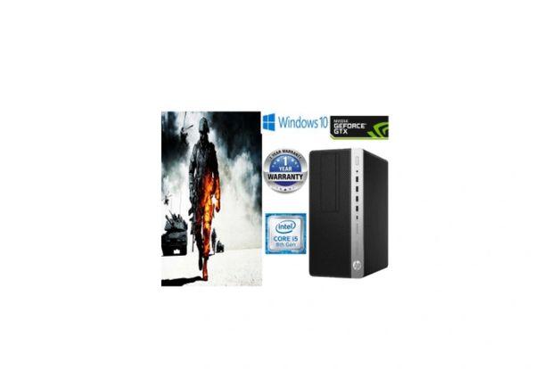 Gaming PC - HP Prodesk 600 G4 SFF Desktop - Intel Core i5 8500 @ 3GHz 16 GB, 256GB SSD NVMe SSD, Windows 10 Pro New - Nvidia GT 1030 2 GB USB Wi-Fi - Refurbished.