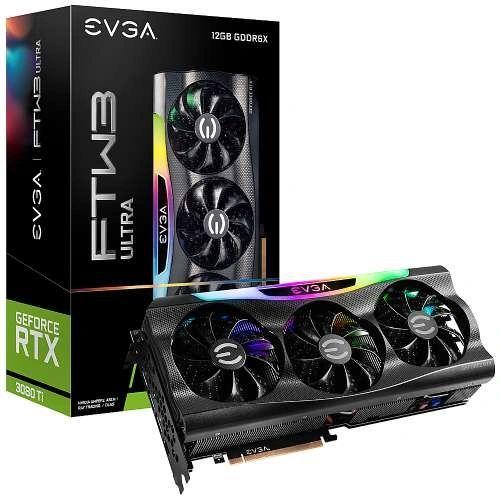 EVGA GeForce RTX 3080 Ti FTW3 Ultra Gaming Video Card, 12G-P5-3967-KR, 12GB GDDR6X, iCX3 Technology, ARGB LED, Metal Backplate - 12G-P5-3967-KR