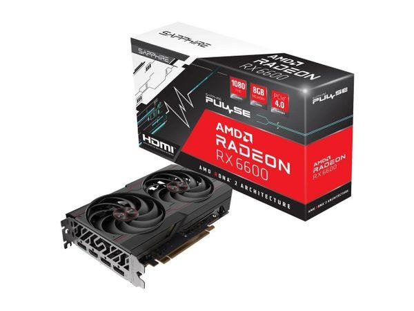 SAPPHIRE PULSE Radeon RX 6600 8GB GDDR6 PCI Express 4.0 ATX Video Card 11310-01-20G