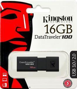 Kingston DataTraveler G3 16GB USB3.0 Flash Drive