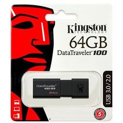 Kingston DataTraveler G3 64GB USB3.0 Flash Drive