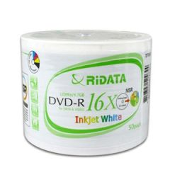 Ridata 16X DVD-R 50pcs Spindle Inkjet Printable
