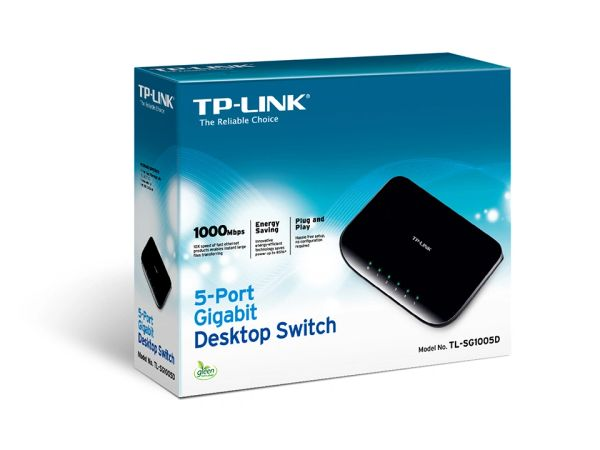 TP-LINK TL-SG1005D 5-Port Gigabit Desktop Switch