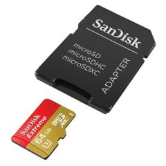SanDisk Extreme 64GB microSDHC Class 10 UHS-I w/ Adapter
