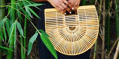 BAMBOO CLUTCH HANDBAG