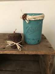 Teal Zeal Canning Jar