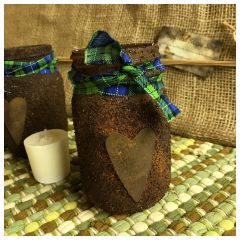 Rustic Jar Candle Holder