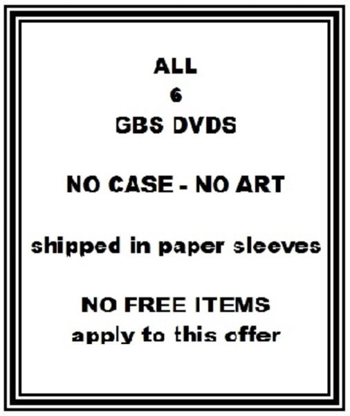 BDSM - GBS - Boarding School - ALL 6 DVDs - approx 12 hr 30 min - *used DVD in paper sleeve - NO ART - (Q=G-VG)