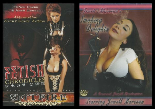 Jewel Marceau - Fetish PLUS Smoking - 2 DVDs - *used FACTORY ORIGINAL DVD in case with artwork - (Q=G)