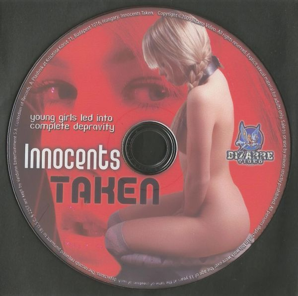 BDSM - BV - Innocents Taken 01 - 4 scenes - 1 hr 59 min - *used DVD in paper sleeve - art on disc face - (Q=VG)