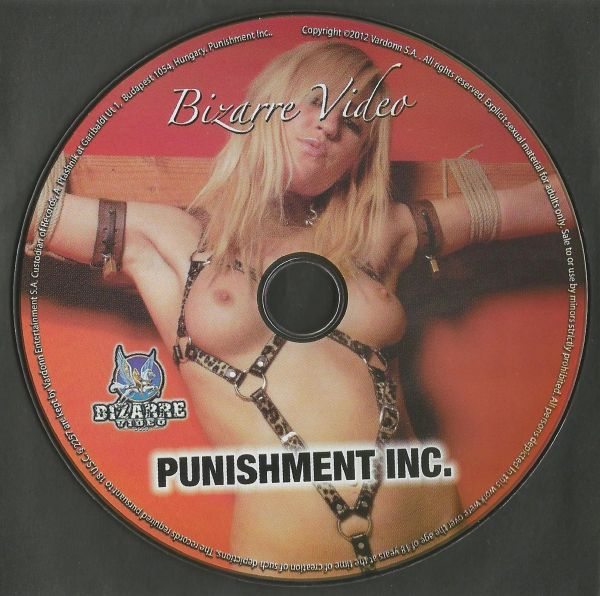 BDSM - BV - Punishment Inc - 3 scenes - 1 hr 31 min - *used DVD in paper sleeve - art on disc face - (Q=VG)