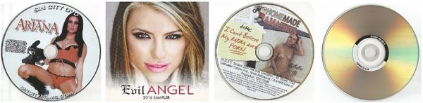 SEX - 4 dvds - Ariana+Angel+AM+Coed - *used DVDs in paper sleeves - art on disc face - (Q=G-VG)