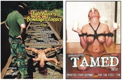 BDSM - 2 dvds - Majors+Tamed - *used FACTORY ORIGINAL DVDs in cases with artwork - (Q=G-VG)