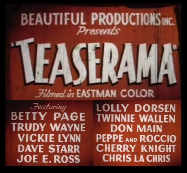 Teaserama - 1955 - 1 hr 6 min - *used DVD in paper sleeve-no art-(Q=G-VG)