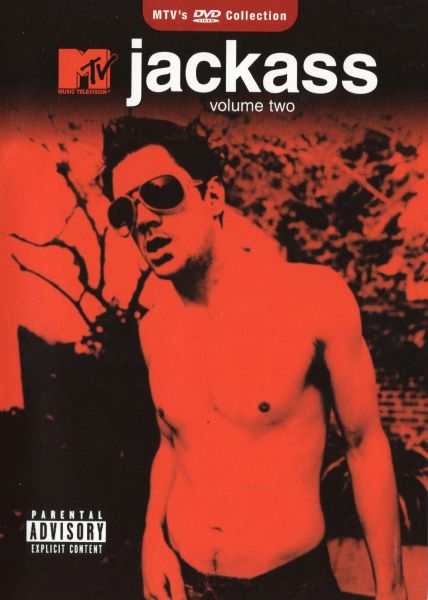 Jackass - volume two - 1 hr 18 min - used-Factory Original DVD in case with artwork-(Q=VG)