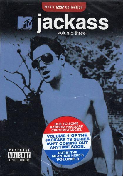 Jackass - volume three - 1 hr 17 min - used-Factory Original DVD in case with artwork-(Q=VG)