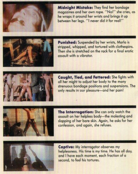 Bondage Classics 6 - 5 scenes - 1 hr - *used DVD in paper sleeve-no art-(Q=G)