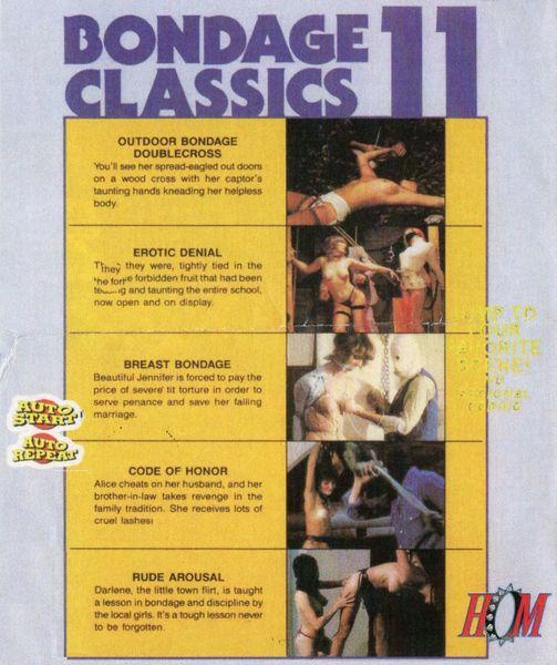 Bondage Classics 11 - 5 scenes - 1 hr - *used DVD in paper sleeve-no art-(Q=G)