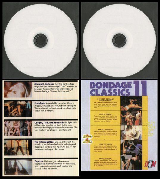 Bondage Classics - BOTH 6 & 11 - 10 scenes - 2 hr - *used DVD in paper sleeve-no art-(Q=G)