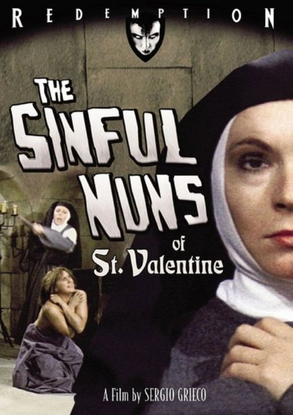 Sinful Nuns of Saint Valentine-1974 - 1 hr 33 min - *used DVD in paper sleeve-no art-(Q=VG)