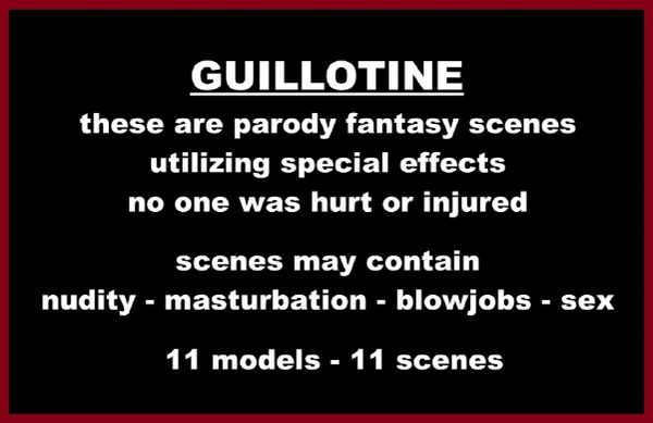 Guillotine Girls-11 models-11 scenes - 2 hr 7 min - *used DVD in paper sleeve-no art-(Q=G-VG)