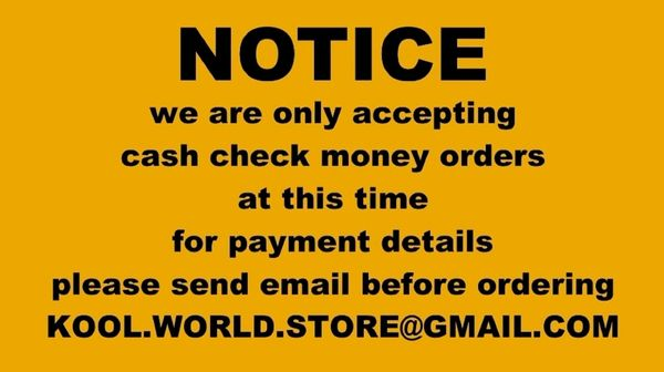FOR INFORMATION ONLY - payment info - not an item for sale