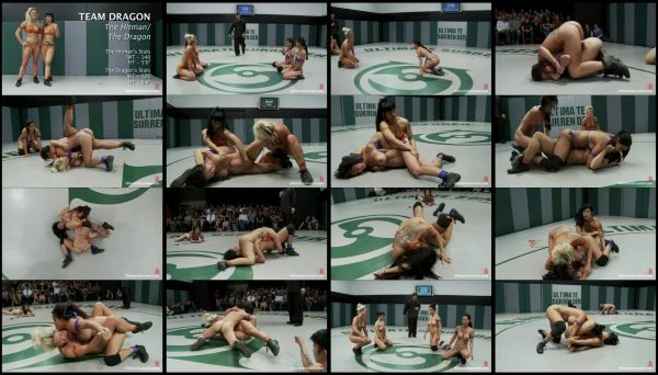DC - naked female wrestling - 1 hr 7 min - *used DVD in paper sleeve-no art-(Q=G-VG)