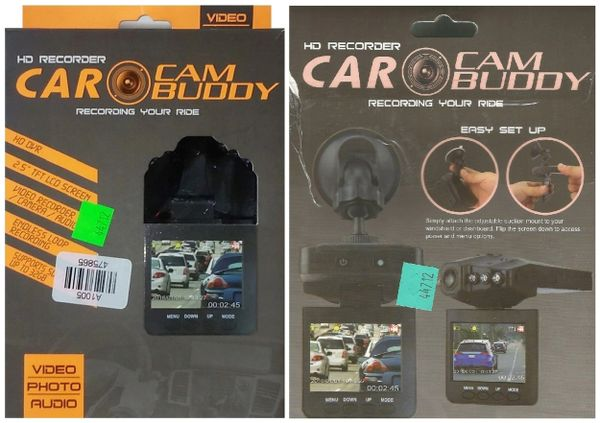 Car Cam Buddy - *NEW - but box has minor damage - opened & tested