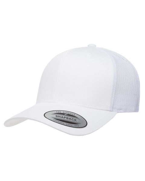 White/White Trucker Logo