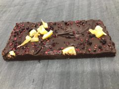 Dark Chocolate Blackberry Bramble with Juniper and Lemon Bar