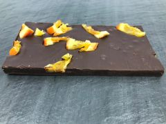 Dark Chocolate Mulled Wine with Candied Orange Bar