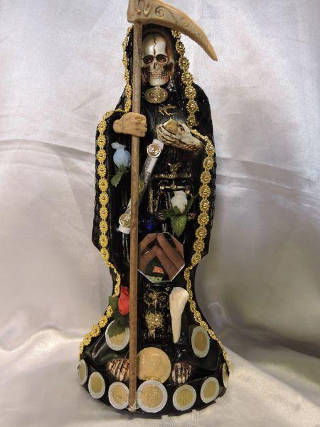 Santa Muerte Vesida Negra - Black Dressed Holy Death