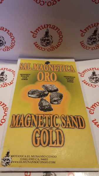 Sal Magnetica Oro - Magnetic Gold Sand