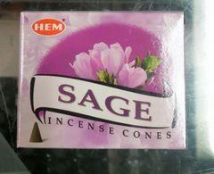 Incienso de Cono Salvia - Sage Incense Cones