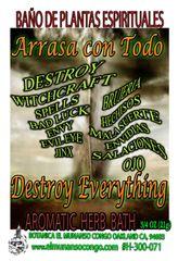 Arrasa Con Todo Baño Espiritual de Hierbas - Destroy Everything Spiritual Herbal Bath