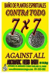 7x7 Contra Todo Baño Espiritual de Hierbas - 7x7 Against All Spiritual Herbal Bath