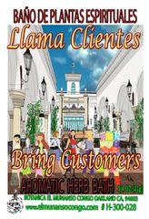 Llama Clientes Baño Espiritual de Hierbas - Call In Customers Spiritual Herbal Bath
