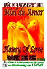 Miel De Amor Baño Espiritual de Hierbas - Honey Of Love Spiritual Herbal Bath