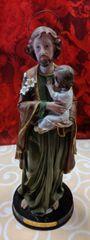 Imagen de San Jose (verde) - Saint Joseph Statue (green)